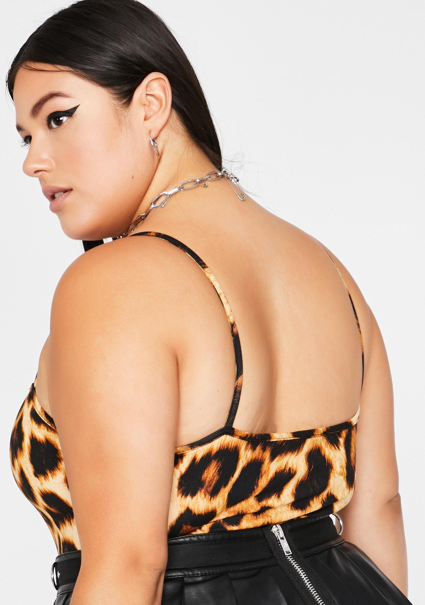 Gotta Get Free Leopard Bodysuit