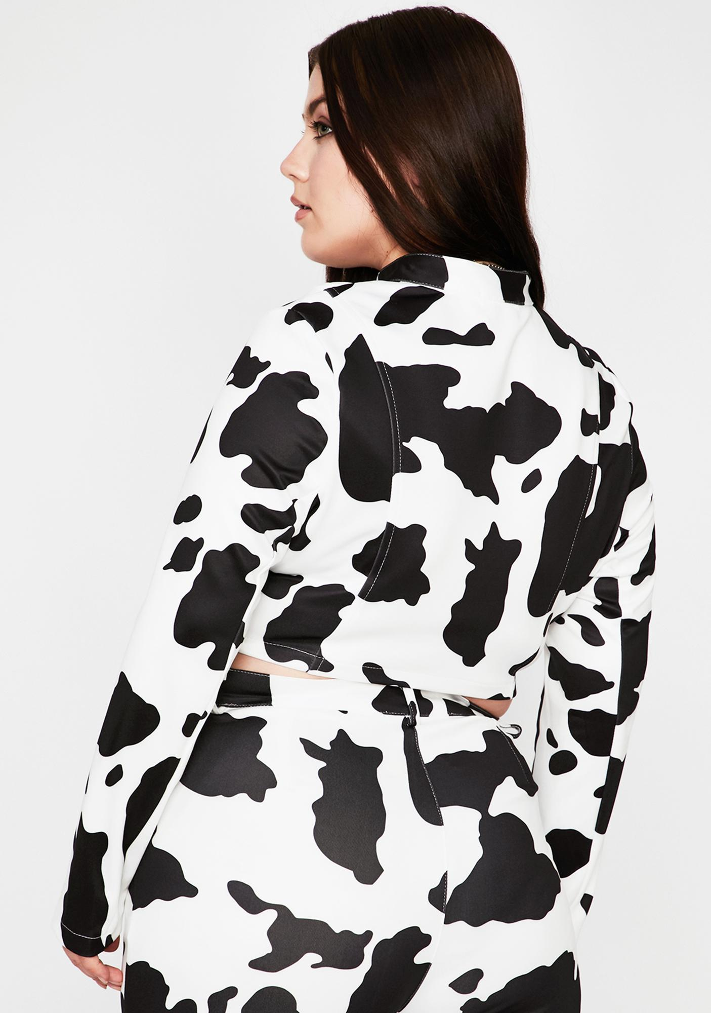 Duh Everything's A1 Cow Print Jacket