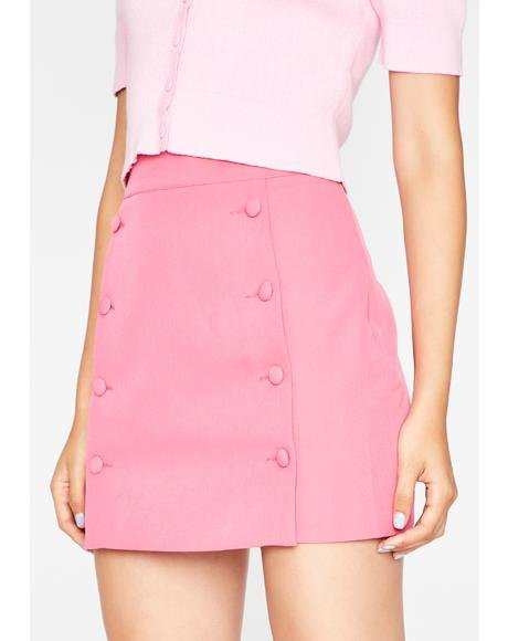 Blush Sweet Talkin' Secretary Mini Skirt