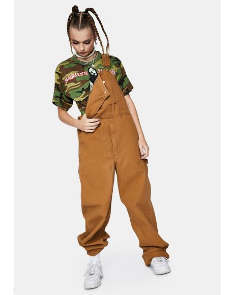 Brown Duck Bib Overalls