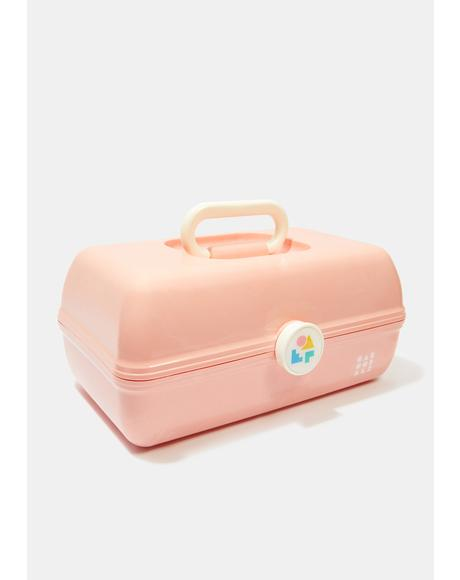 On The Go Girl Peach Marble Caboodle