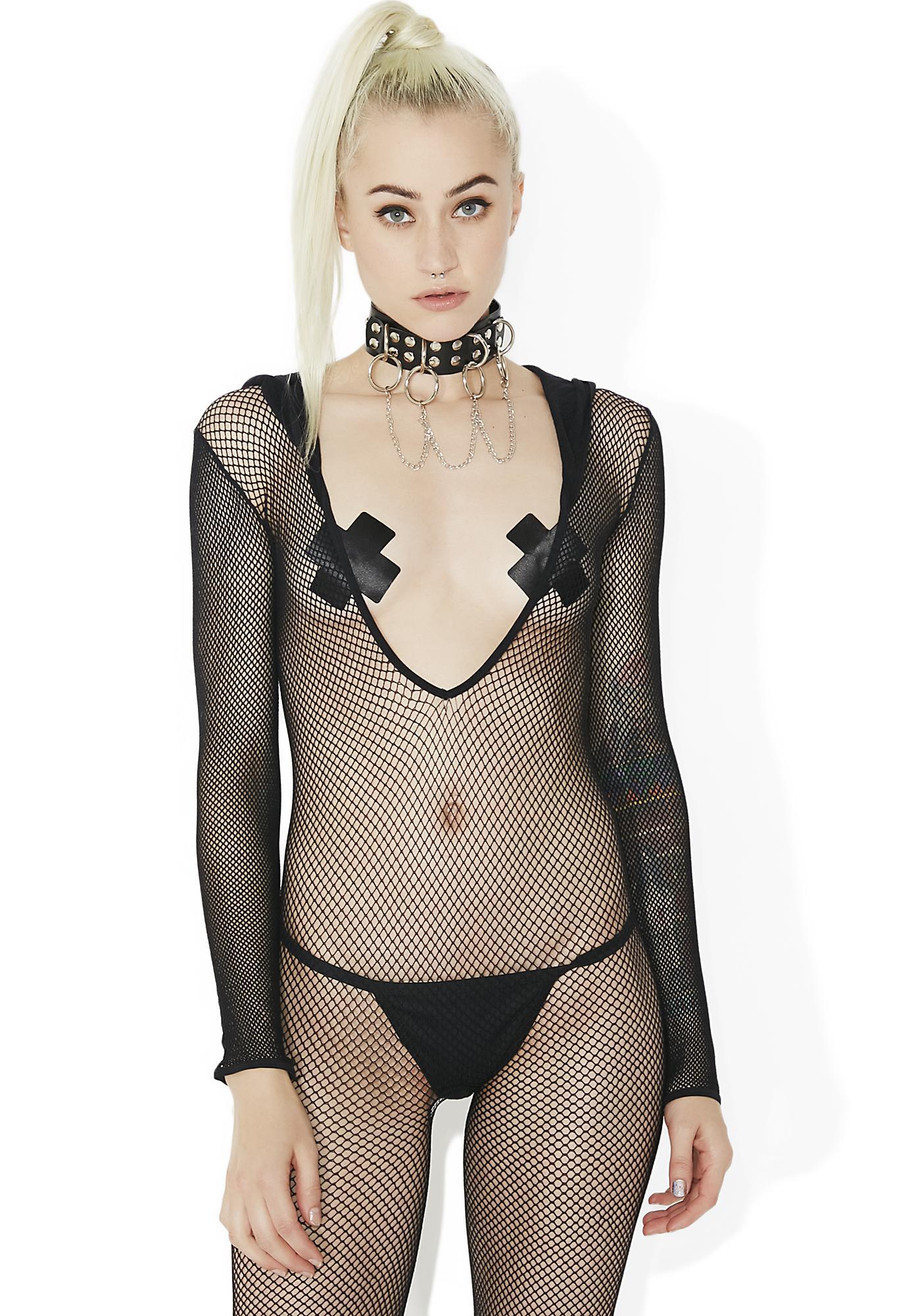 Madame Assassin Hooded Fishnet Bodystocking