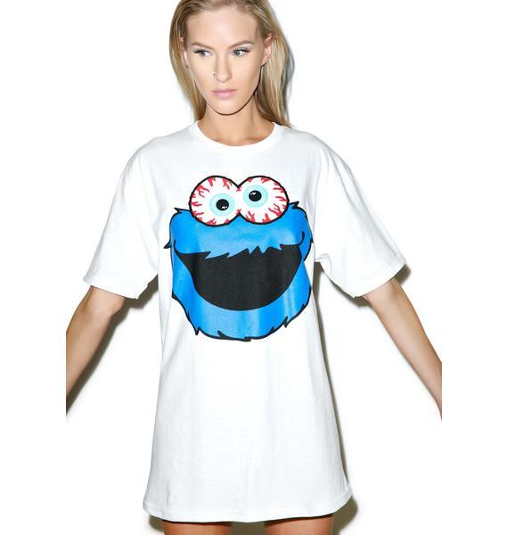 Mishka Keep Watch Cookie Monster Tee