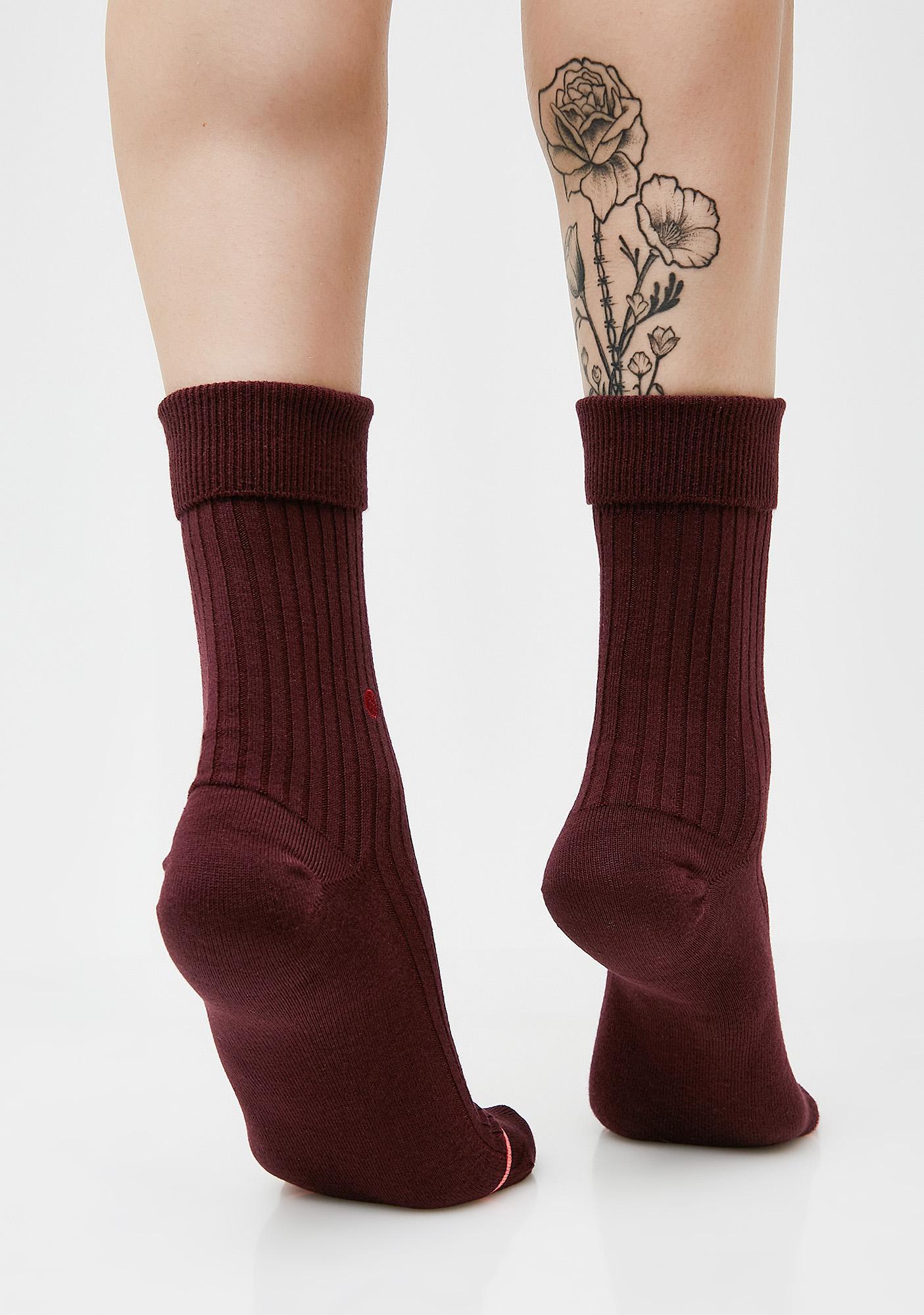 Stance Wine Fenty Prep Socks