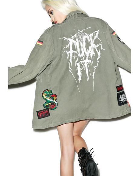 Vintage Deadstock Fuck It Military Jacket