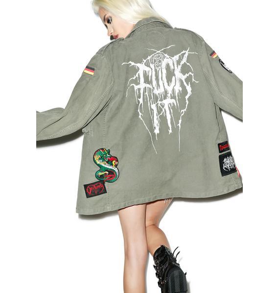 Hazmat Design Vintage Deadstock Fuck It Military Jacket