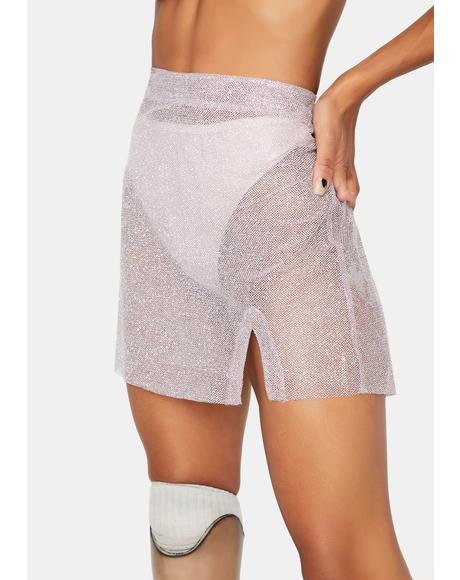 Nostalgia Glitter A-Line Skirt