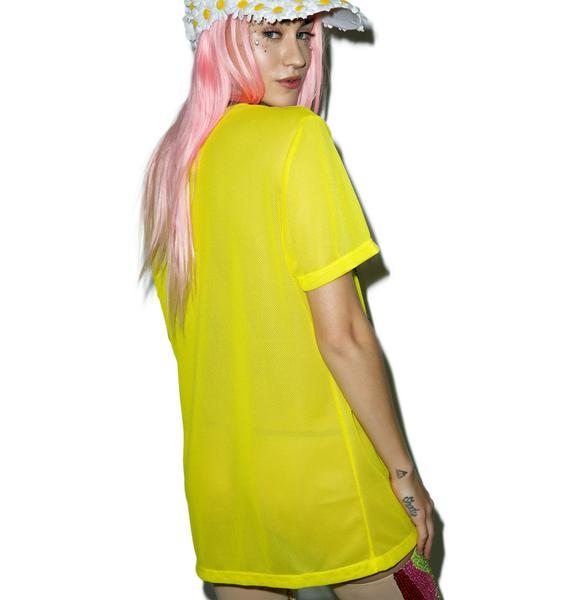 O Mighty Big Ass Smiley Mesh Tee