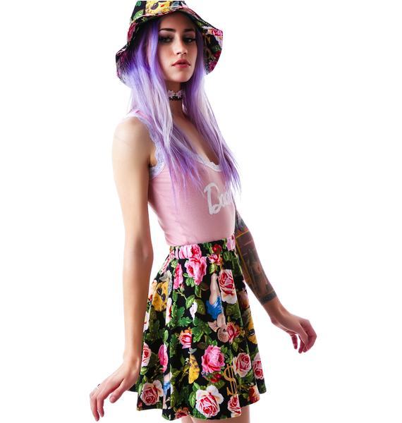 Joyrich Angelic Rich Floral Skater Skirt