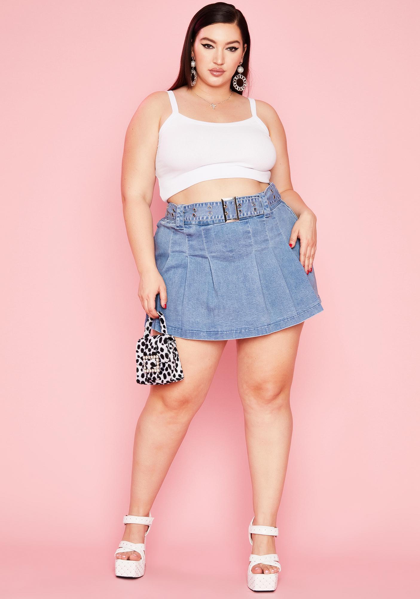 Sugar Thrillz High Maxim Capacity Pleated Skirt