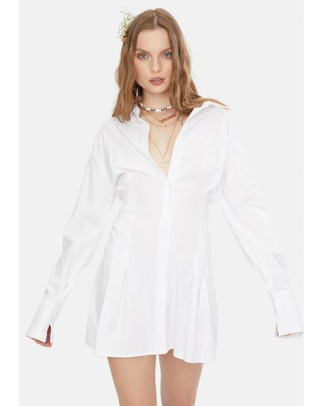 Freshest Professor Shirt Dress