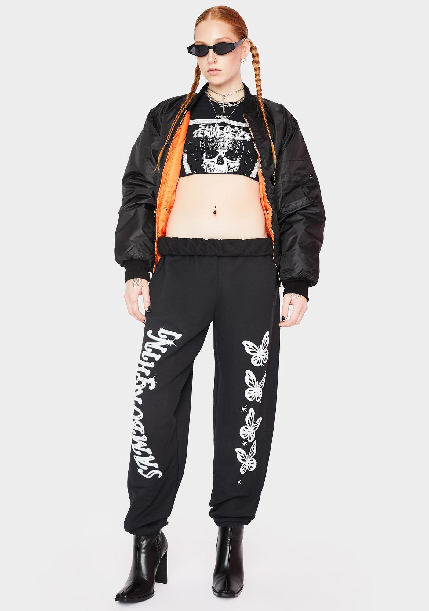 Samborghini Hardcore Butterfly Graphic Sweatpants