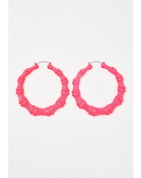 Baby Uptempo Heaux Bamboo Earrings