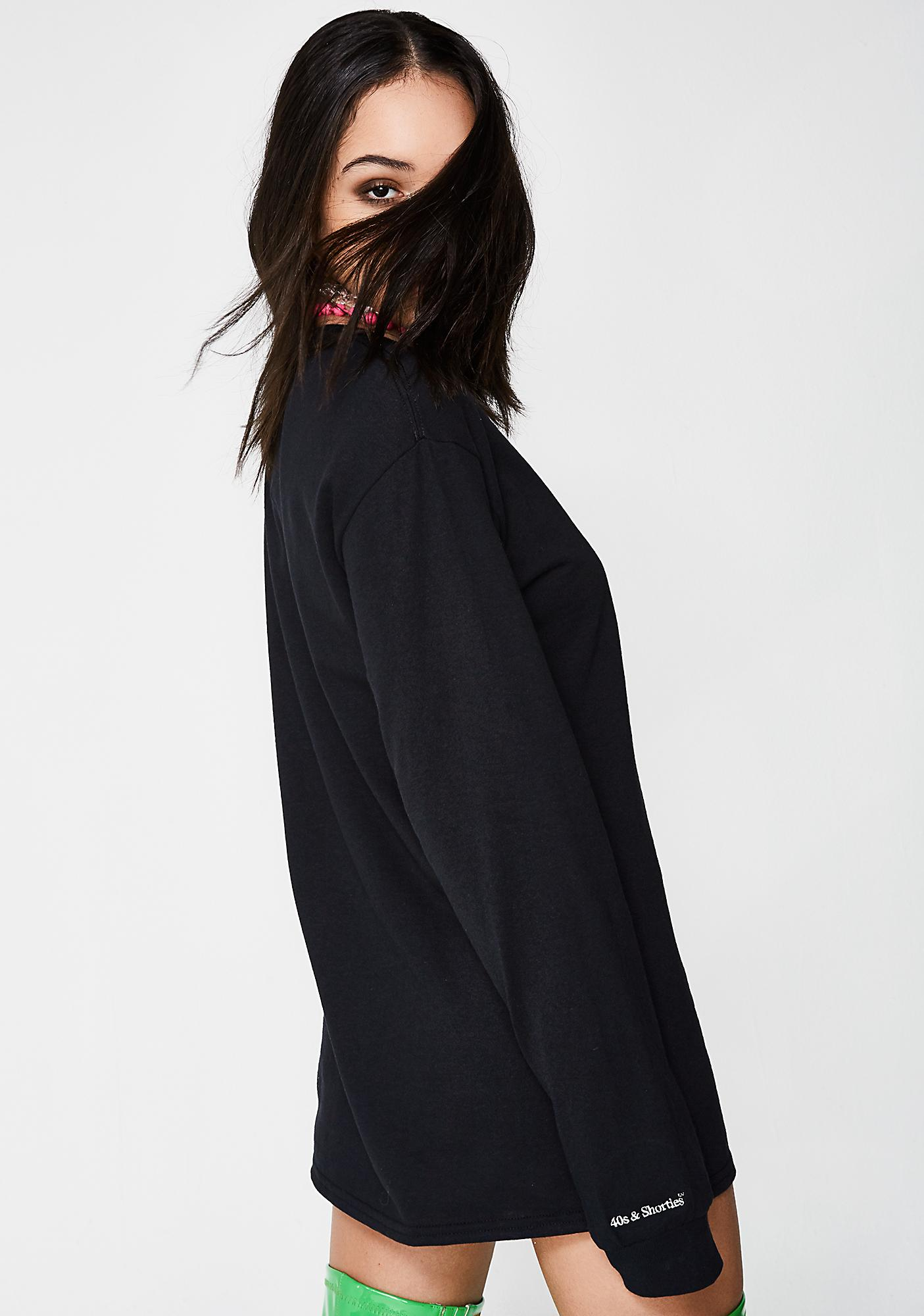 40s & Shorties Midnight Hustler Embroidered Pocket Long Sleeve