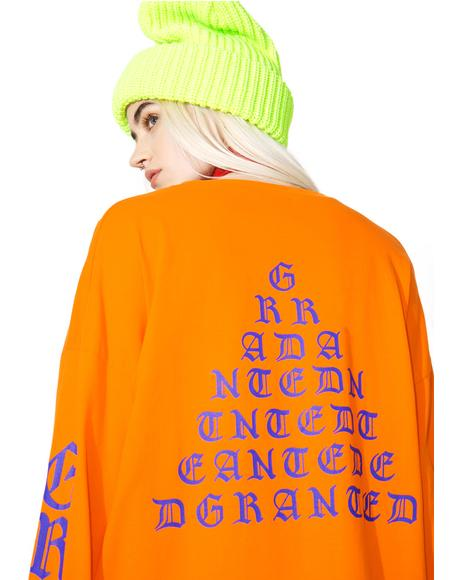 Orange Tour Merch Long Sleeve Tee