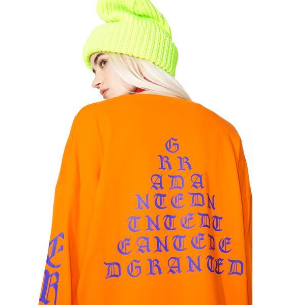 Jaded x Granted Orange Tour Merch Long Sleeve Tee