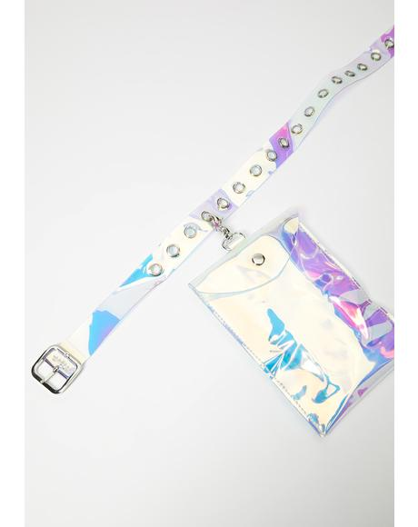 Rave Fix Holographic Belt Bag