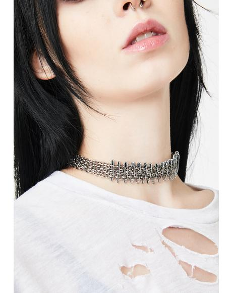 Find Myself Safety Pin Choker