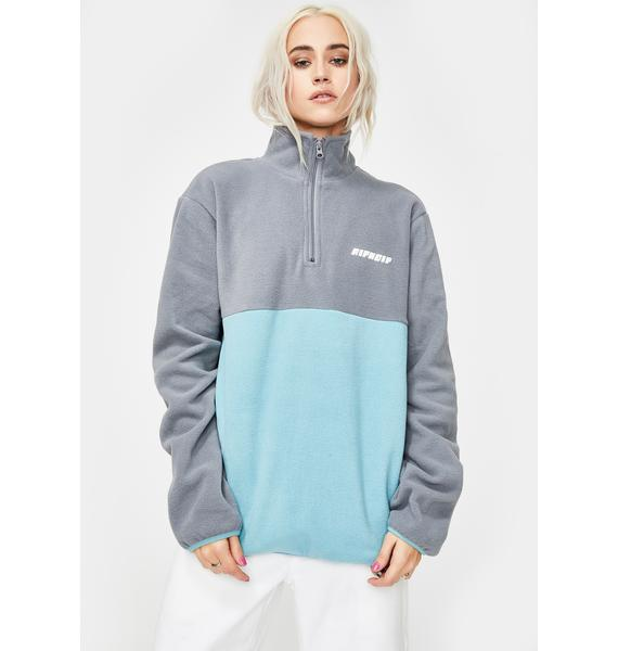 RIPNDIP DNA Brushed Fleece Half Zip Sweater