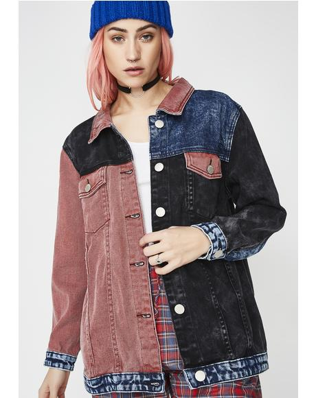 Blocked Caller Denim Jacket