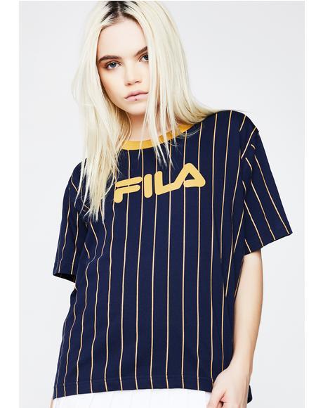 Lonnie Pinstripe T-Shirt