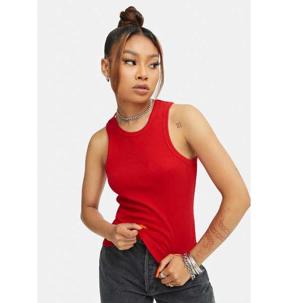 Rollas Red Miller Baby Rib Tank Top