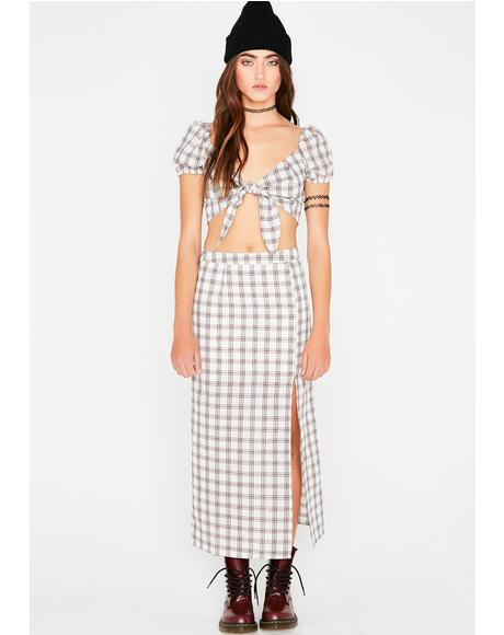 Xtra Credit Work Plaid Set