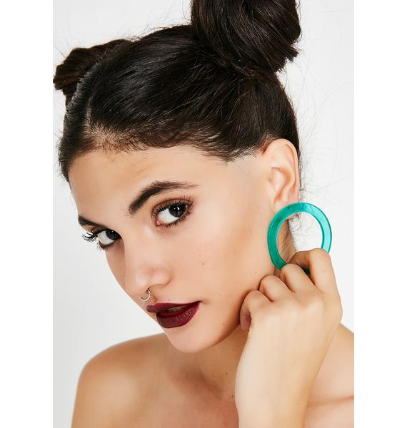 Pop Of Color Circle Earrings