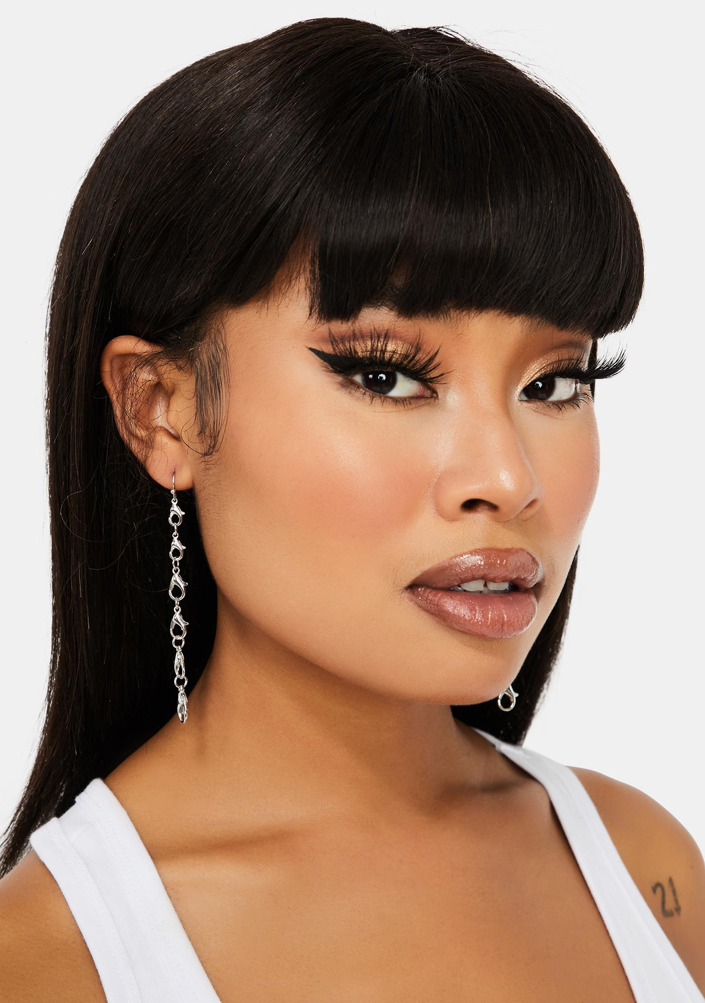 Edgy Claw Clasp Earrings