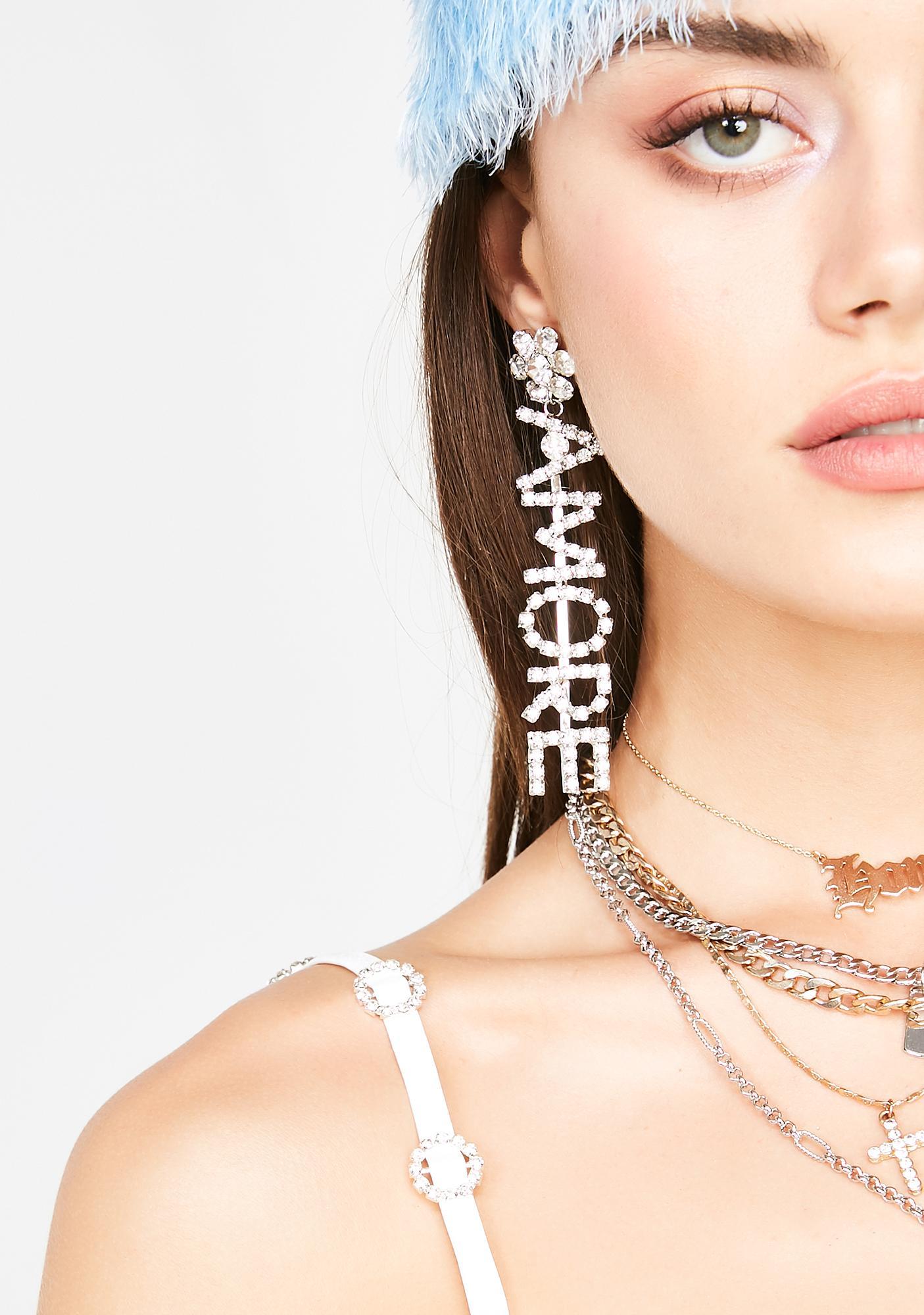 Mi Amor Rhinestone Earrings