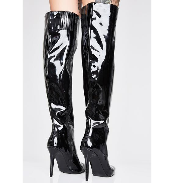 Wicked Ultraviolet Thigh High Boots