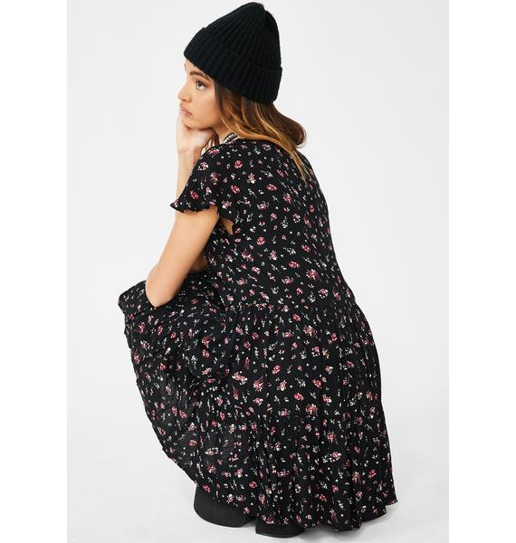 Re Named Grunge It Up Floral Dress