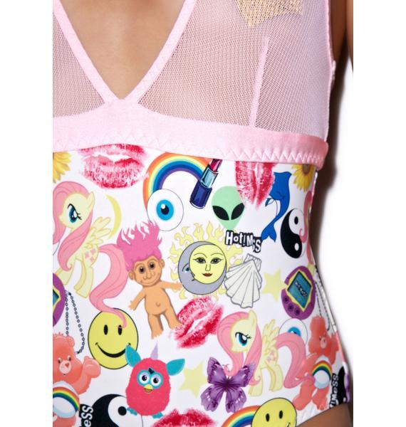 Hot!MeSS Mesh V-Neck Swimsuit
