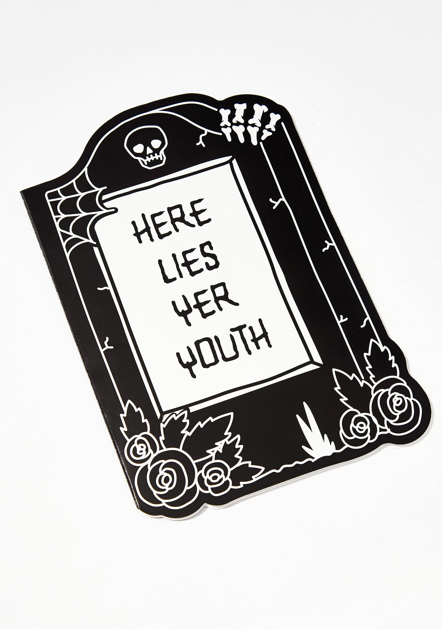 Killstar Tombstone Birthday Card