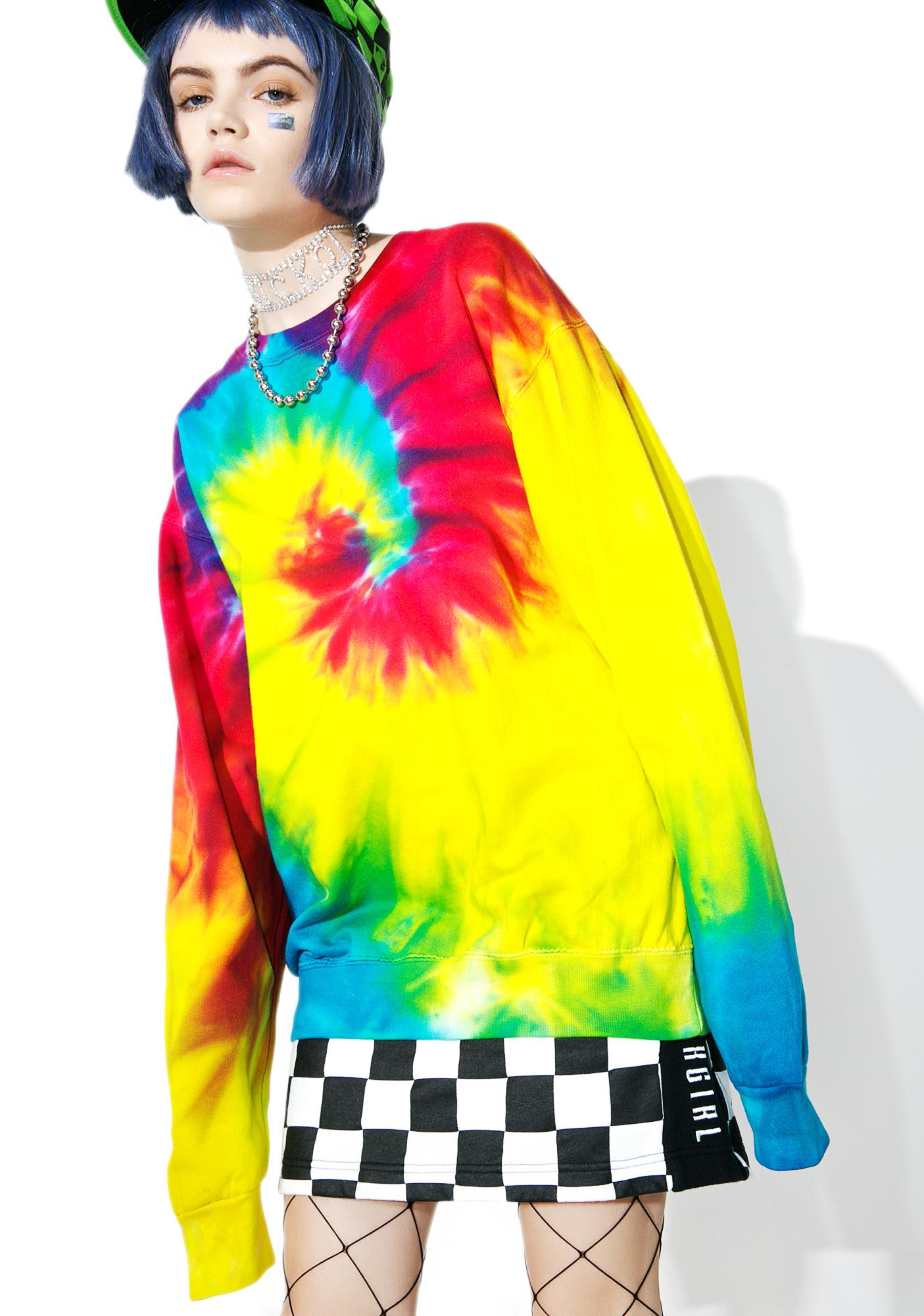 Wipe Out Tie Dye Sweatshirt
