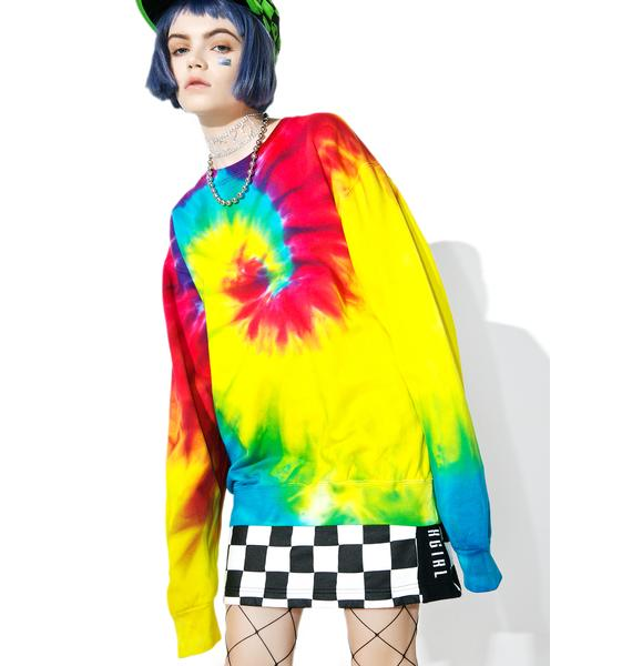 Wipe Out Tie Dye Sweatshirt
