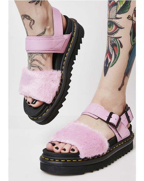 Voss Fluffy Sandals