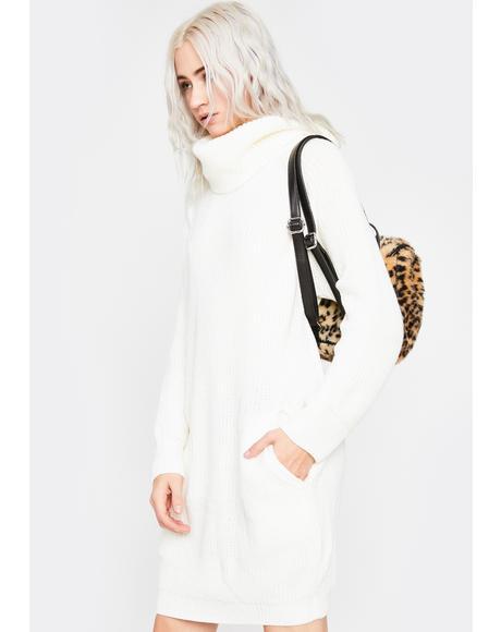 Ivory Somber Songs Sweater Dress