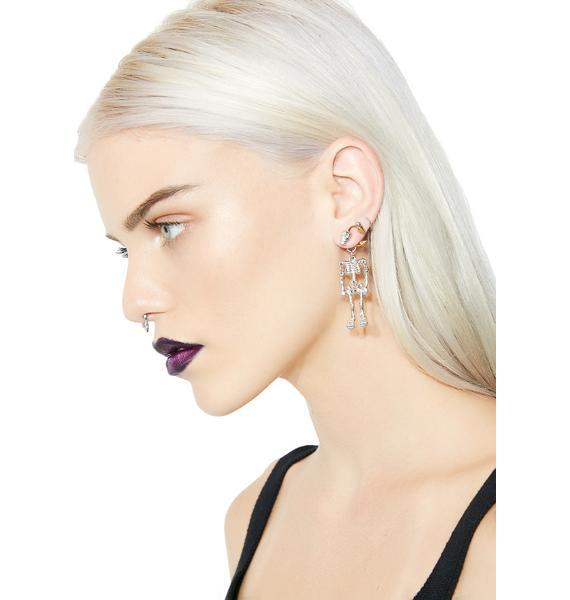 Bare Bones Skeleton Earrings