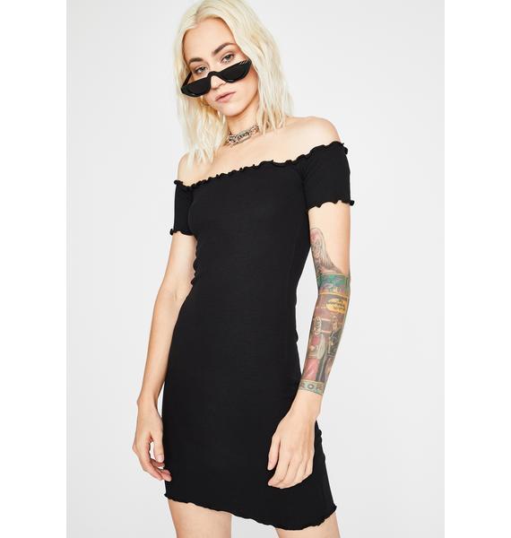 Crush Material Off The Shoulder Dress