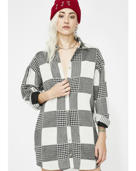 Take It Slow Flannel Dress