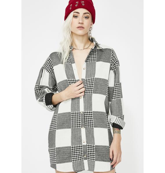 Take It Slow Flannel Dress
