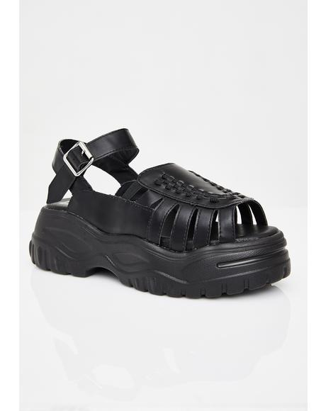 Midnight Wave Platform Creeper Sandal