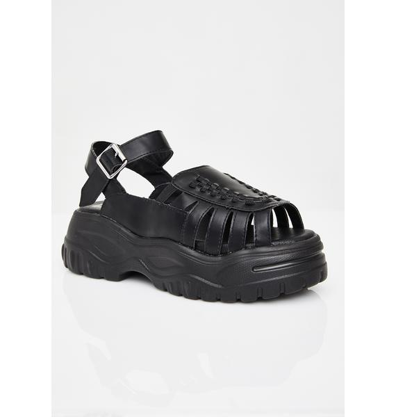 T.U.K. Midnight Wave Platform Creeper Sandal