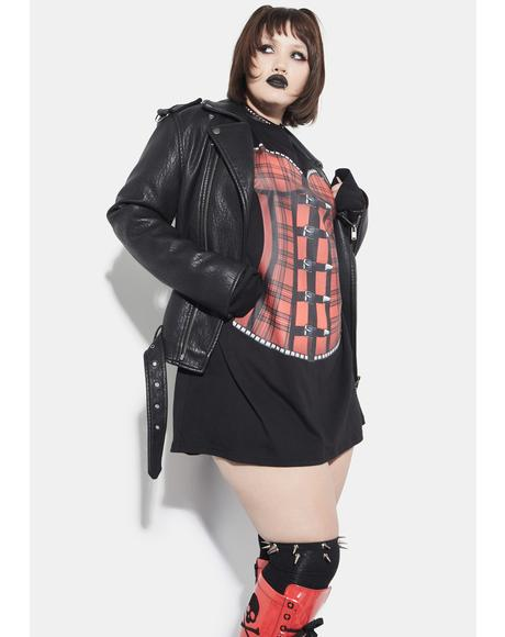 Always Tempting Danger Corset Graphic Tee