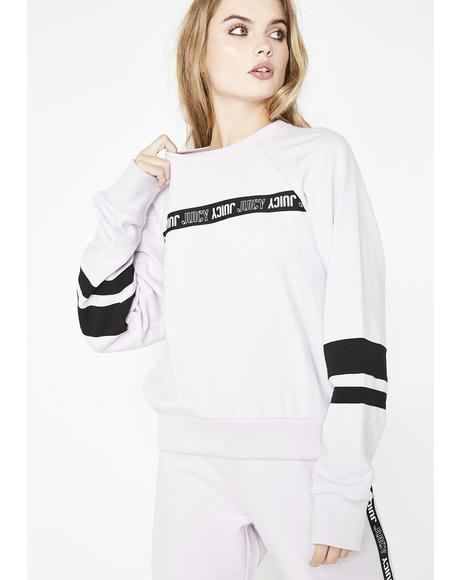 Repeat Juicy Logo Stripe Pullover