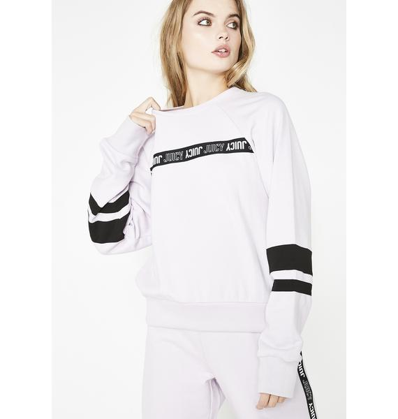 JUICY COUTURE Repeat Juicy Logo Stripe Pullover