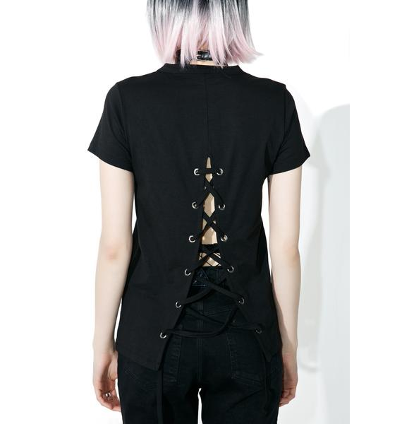 Disturbia Burn Tie-Back Top