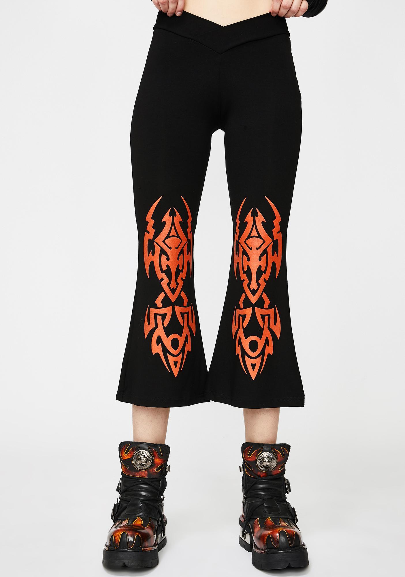 GADO GADO VIENNA Orange Tattoo Crop Pants