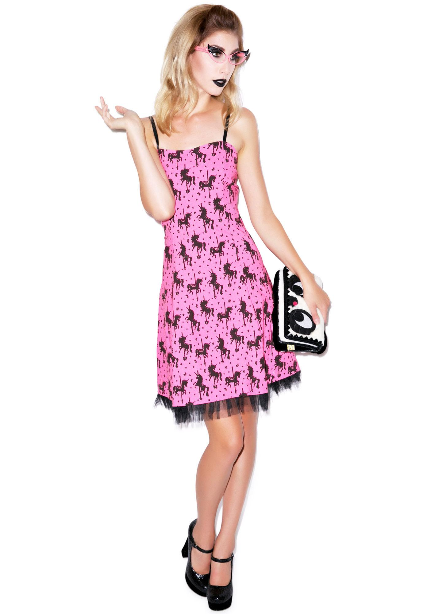 Too Fast Unicorn Carousel Ritzy Dress